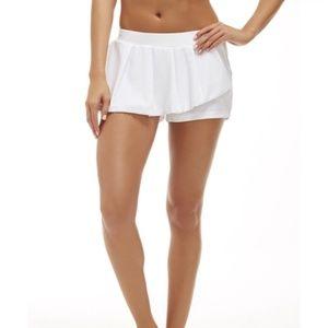 fabletics cognac white mini tennis skirt skort S
